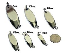 Set of 30 CHROME KastMaster Kast Master Spoons - 1/2oz, 3/4oz, 1oz