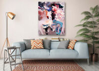 Modern Art Poster-Abstract Girl Print Wall Room Decor Canvas Painting With Frame