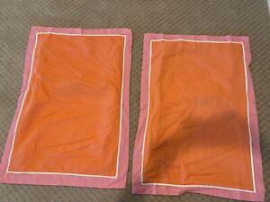 """2 Kate Spade Standard Shams Pillow Cases Pink Salman Linen Look 20""""x30"""""""