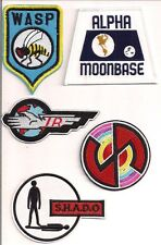 Gerry Anderson Patch Set of 5- UFO/Stingray/Space1999/Capt Scarlet/Thunderbirds