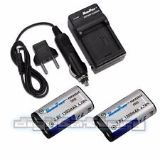 2x BATTERIES + CHARGER For Kodak Nikon Casio Olympus Samsung Benq CR-V3 CRV3