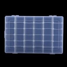 36 Slots /Compartments Adjustable Plastic Beads Jewellery Organizer Storage Box