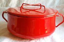 New listing Vintage Dansk Kobenstyle Red 3 Quart Metal Covered Casserole