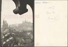 Vintage Photo Unusual Window View WWII Bomb Damage Ruins Prague 721761