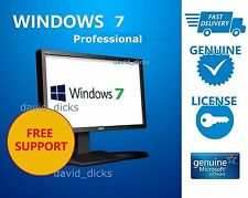 LATEST Windows 7 Professional 64-bit 32 /PC/Laptop /Genuine Full Pro Any System