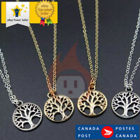 Vintage Tree of Life Pendant Necklaces Antique Silver & Gold Plated Charm chain
