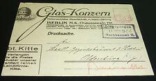 GLAS Konzern Berlin Werbung Glashütte Spiegel etc. Freistempler 1922 Oldenburg