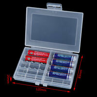 Useful 1x Hard Plastic Battery Case Box Holder Storage for 10 AA/AAA Batterie PF