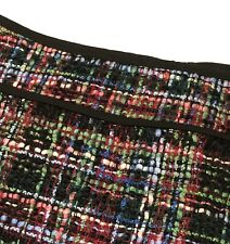 New Talbots Tweed Skirt Black Multi-Color Lines Wool Blend Classy Size 6
