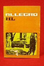 AUSTIN Allegro HL Driver's Handbook