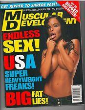 MUSCULAR DEVELOPMENT SEX USA Bodybuilding Muscle Magazine Erin Ellington 11-02