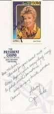 JANIE FRICKE Hand Signed Trading Card with Personal Signed Letter - Free S/H