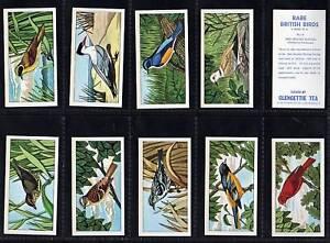 Cigarette cards Rare British Birds Glengettie 1967 mint set