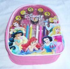 Disney Princesses Licensed Backpack w/ Color Pencil Self Ink Stamper Art Set  😍