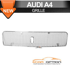 Fits 00-05 Audi A4 8E Chrome Steel Mesh Grille Bumper Grill Guards