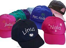 Kinder-CAP mit Motiv & Namen bestickt 100% Baumwolle *NEU