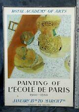 """Bonnard Lithograph Poster Royal Academy Arts 1900-1950 L'ecole De Paris 29x20"""""""