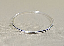 dainty hammered bangle in sterling silver