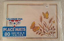 Vintage Valcour Pak Paper Placemats 1970's Retro 80 per pack