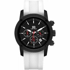 Danish Design IQ12Q1020 Black Dial Stainless Steel White Rubber Men's Watch
