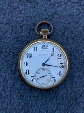 14K Gold Pocket Watch # 4221152 Running Antique Burlington Watch Co 16S, 21J,
