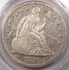 1870-CC Seated Liberty Dollar $1 - ANACS VF35 Details - Rare Carson City Coin!