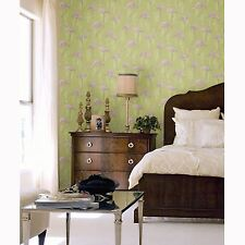 LAGOON FLAMINGO WALLPAPER GREEN & PINK - ARTHOUSE VINTAGE 252602 NEW