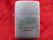 Zippo Lighter 1950 Advertising Capitol City Lumber Co, Truck Graphics