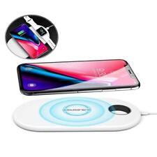 ABLEGRID X8 2in1 Qi Wireless Charger Charging Pad for HTC U11+ 8X Cell Phone