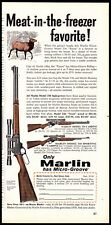 1960 Marlin 336 Texan, Carbine and Sporting Carbine Meat in the freezer Ad
