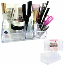 Vanity Organizer Acrylic Clear Cosmetic Lipstick Brush Makeup Stand Storage Case