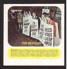 The Beatles Vintage Belgian Pop Rock Music Sticker B