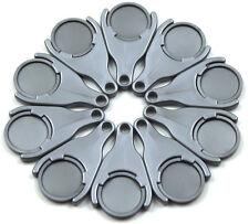 50 - 2000 Einkaufswagen-Chiphalter silbergrau-metallic incl. Chips EKW02