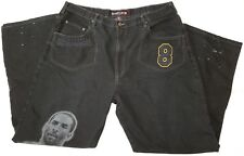 NBA UNK Denim black jeans men waist 42 Kobe Bryant theme Los Angeles Lakers LA