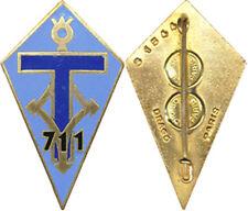 711° Compagnie de Transmissions, émail, dos lisse, Drago 1544 (7311)