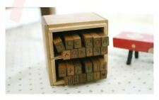 Wooden Antic Stamper, Handwriting Style with Korean Alphabet, Hangul 손글씨 도장