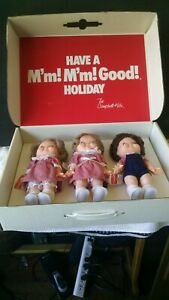 """Set of 3 1988 Special Edition Campbell Soup Kids Dolls 10"""" Tall ~ New in Box"""