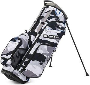 Ogio Golf 2021 Woode 8 Hybrid Stand Bag COLOR: Artic Camo Top: 8-Way