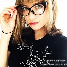 Cat Eye Classic Women Black Fashion Clear Style Glasses