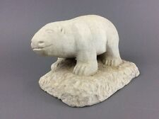 Tim Lewis - Rare Folk Art Carved Stone Sculpture Museum Collected Listed Artist