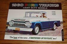 1960 Ford Truck Light Duty Models Sales Brochure F-100 F-250 F-350 60