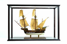 "Display Case for Tall Ship, Tugboat Model 41"" with Plexiglass"