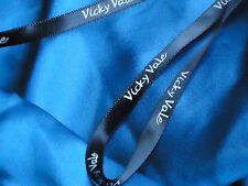 VICKY VALE FrilledDbleVneckFloralBlue100%SilkPixieEUC