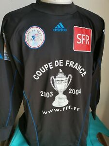 superbe  maillot de football n°16 gardien adidas coupe de france 2003/2004