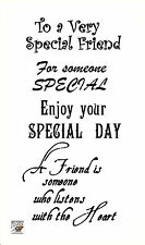 To a Very Special friend ~ Happy Birthday words sentences clear stamps FLONZ 805