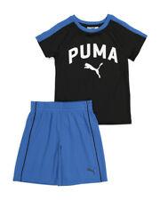 PUMA BOYS OUTFIT - BLUE BLACK SZ 6 - BASKETBALL SOCCER SHIRT SHORTS SET 2