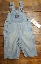 NWT Osh Kosh BGosh Denim Overalls 12 Months 2006 NEW