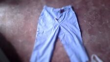 3/4 Cargo pants in light blue cotton by BHS size 10
