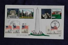 Flag Over the Capitol Dome 22c Stamps Triple FDC HP Collins#Q901 Sc#2114-2116