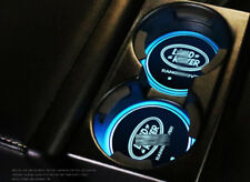 2× For Land Rover New Colorful LED Car Cup Holder Pad Auto Deco Lights Xmas Gift